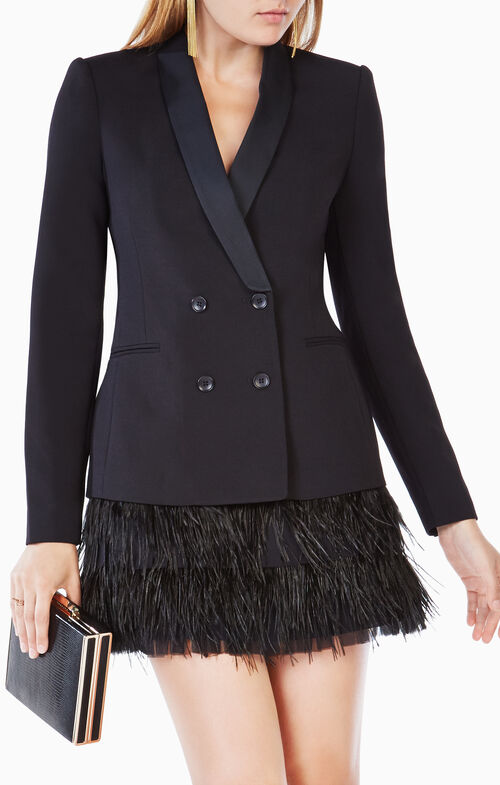 Delphina Feathered Jacket Dress