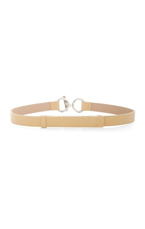 Toggle Faux-Leather Waist Belt