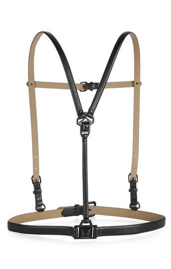Pyramid-Stud Harness Waist Belt