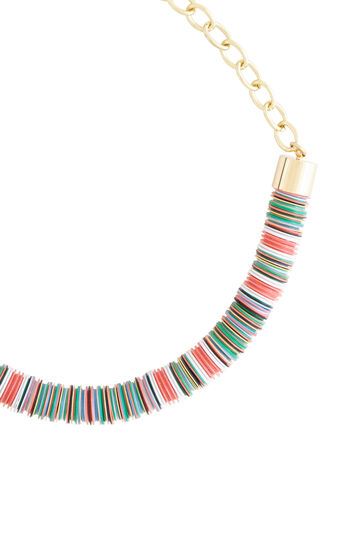 Beaded Chain Tribal Necklace