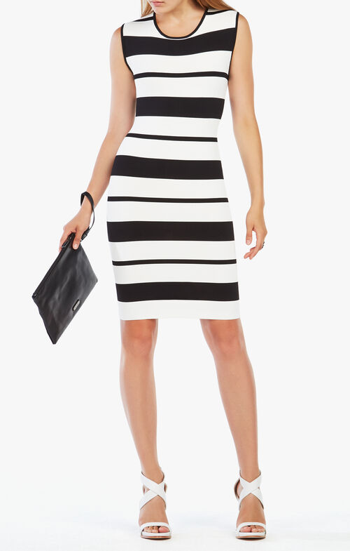 Striped Body-Con Dress