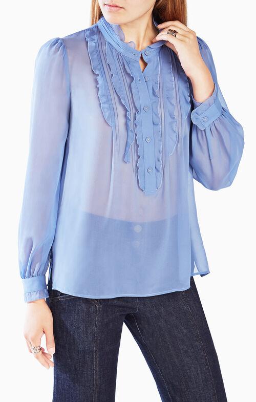 Leola Ruffled Silk Blouse