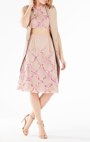 Adren Floral Embroidered Two-Piece Dress