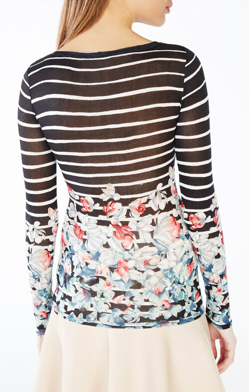 Wylie Floral Striped Top