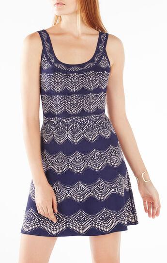 Cyndi Knit Jacquard Dress