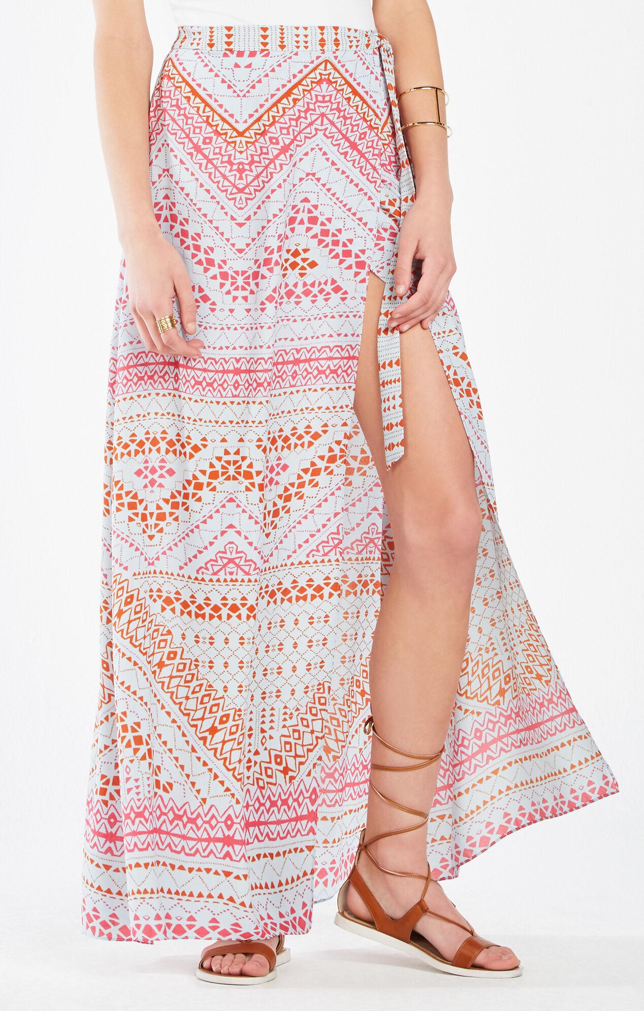 jptrans.naver.net Aviva Geometric Print Wrap Maxi Skirt ...