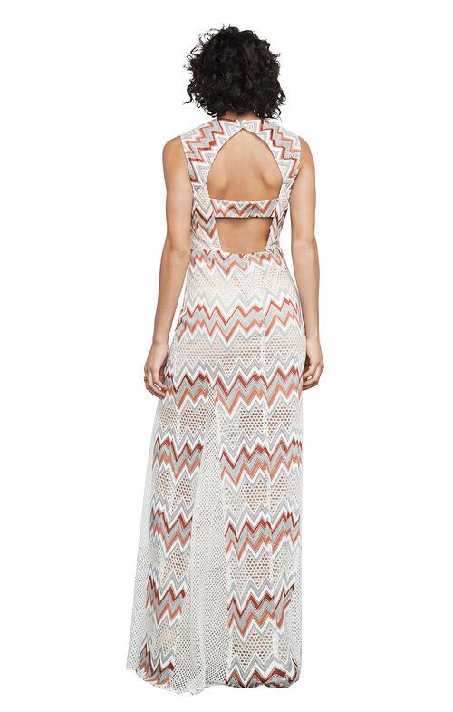 Gia Chevron Stripe Lace Dress