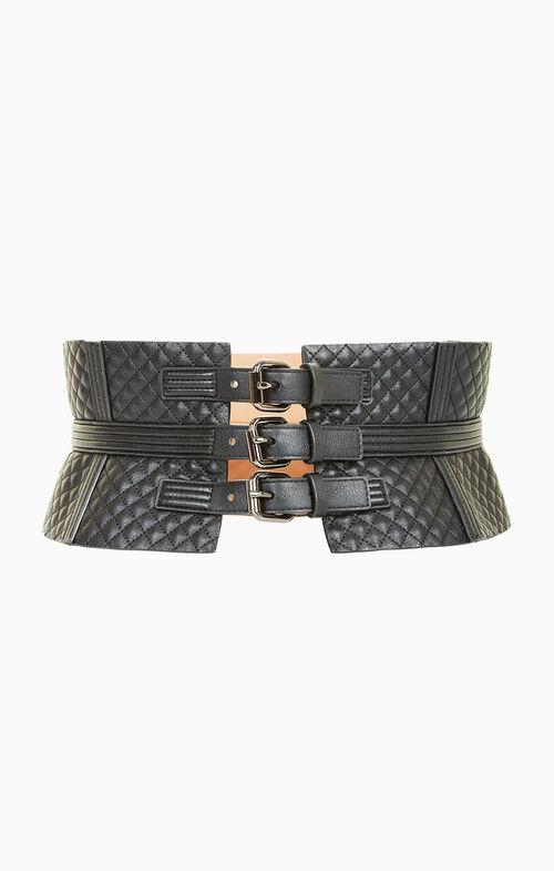 Quilted Corset Waist Belt
