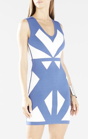 Evinna Geometric Jacquard Dress