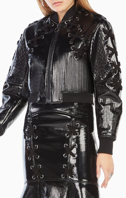 Colin Faux-Leather Bomber Jacket
