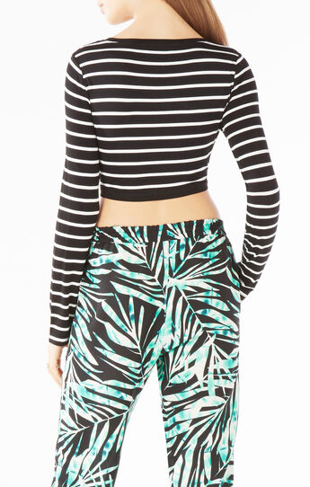 Brinli Striped Crop Top