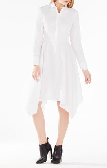 Beatryce Handkerchief-Hem Shirt Dress