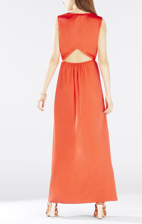 Taren Slit-Front Drawstring Dress