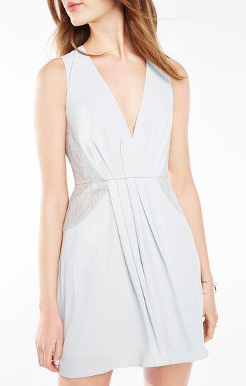 Rania Lace-Blocked Dress