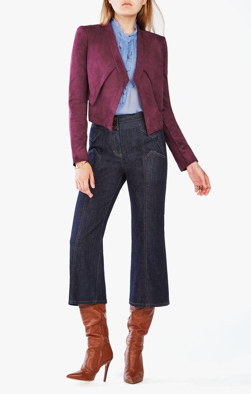 Luke Faux-Suede Cropped Jacket