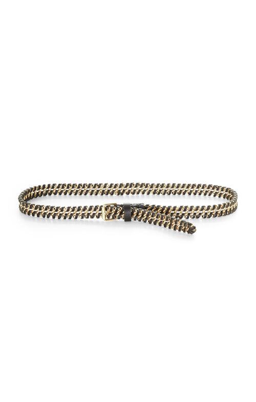 Whipstitch Chain Waist Belt