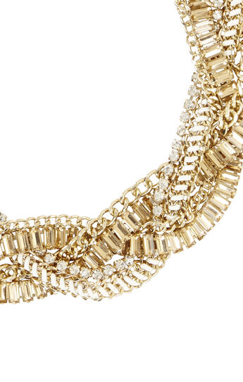 Braided Stone Detail Necklace