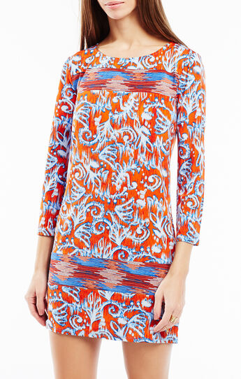 Noely Ikat Print Tunic Dress