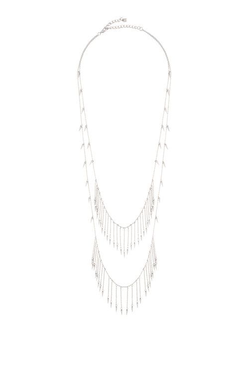 Layered Spike Chain Necklace