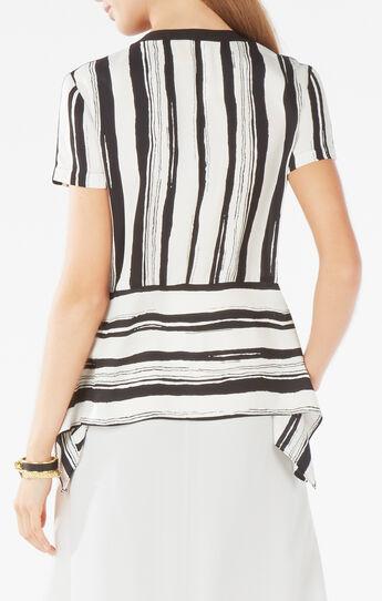 Cyra Striped Peplum Top