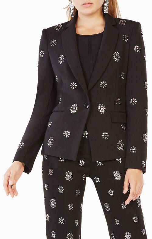 Karl Crystal-Embellished Blazer