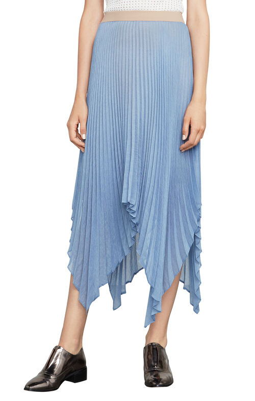 Rumi Asymmetric Pleated Skirt