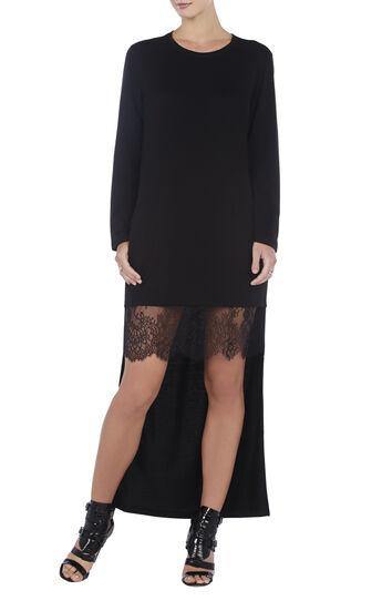 Braidley Knit Lace-Trim Dress