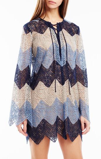 Larissa Striped Lace Dress