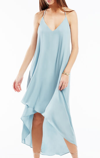 Cressida Lace-Trim High-Low Dress