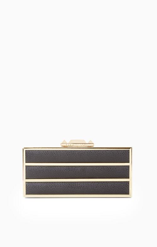 Devyn Striped Box Clutch