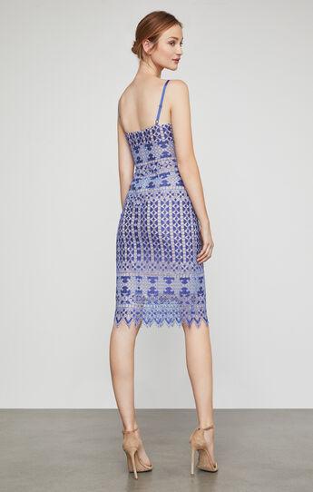 Alese Geometric Lace Midi Dress