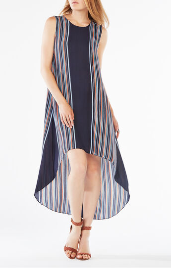 Mickayla Striped High-Low Dress