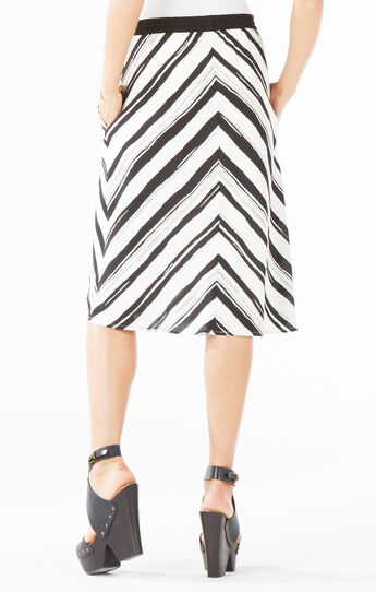 Hade Striped Midi Skirt