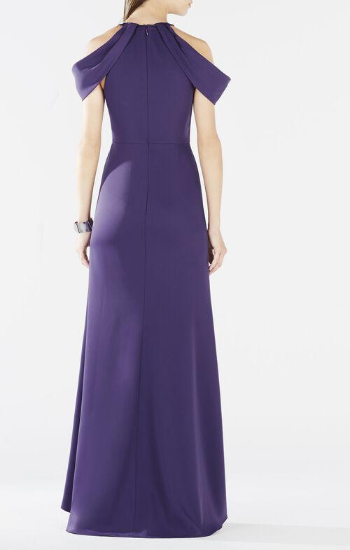 Kathya Draped Cutout Gown