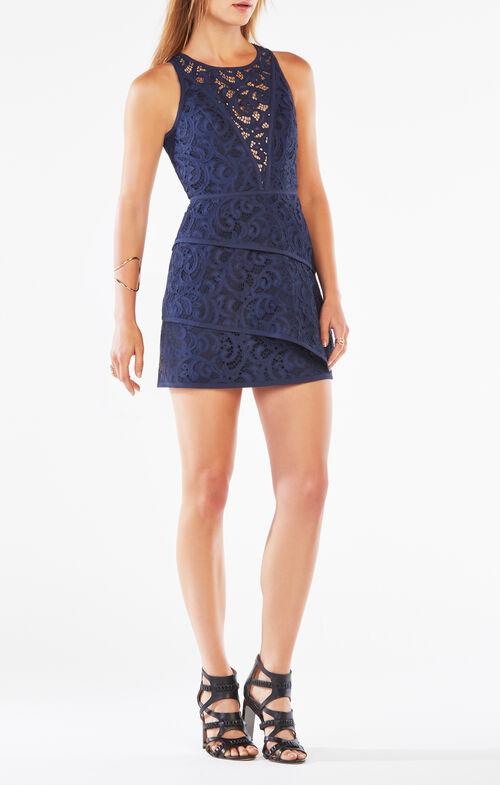 Hanah Scroll Lace Dress