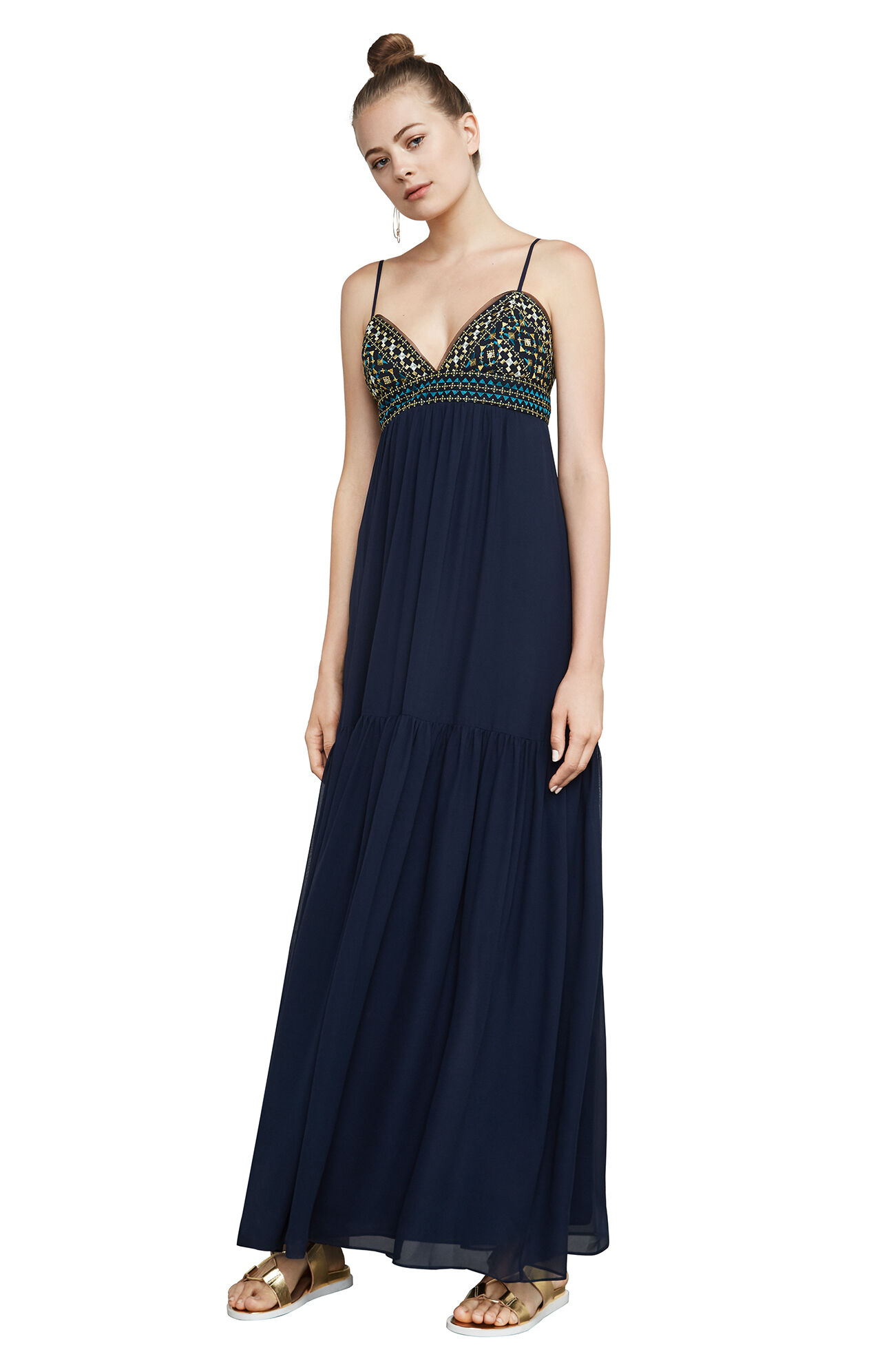 Christmas dress edmonton - Sabrina Embroidered Chiffon Gown