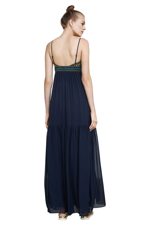 Sabrina Embroidered Chiffon Gown