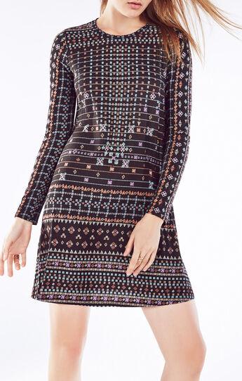 Jeanna Scarf Print Dresss
