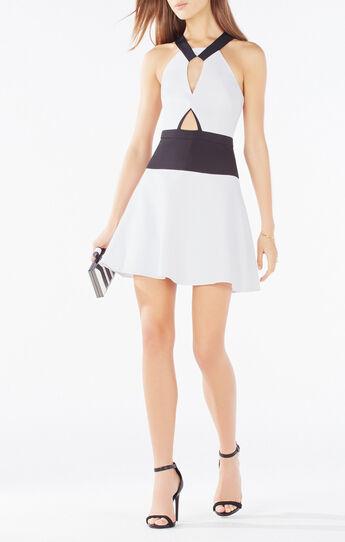 Kerilynn Cutout Color-Blocked Dress