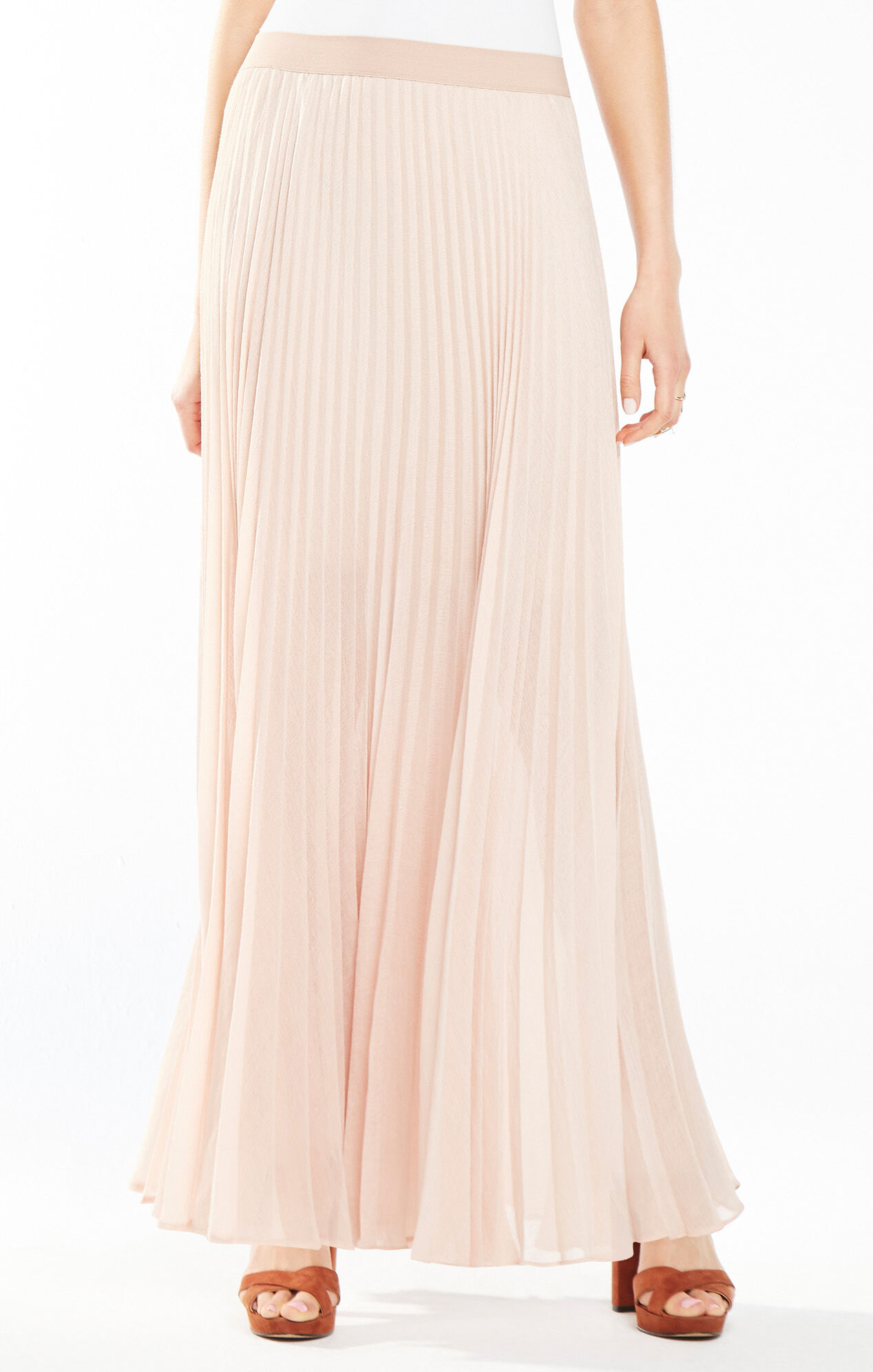 estelle sunburst pleated maxi skirt