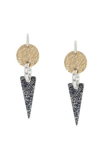 Hammered Geometric Plate Earrings