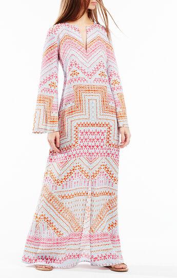 Olivia Geometric Print Kaftan Dress