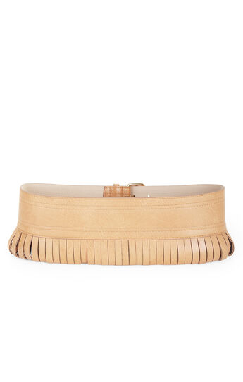 Looped Faux-Leather Contour Waist Belt
