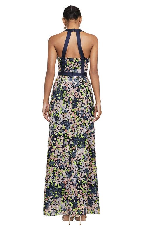 Tacarra Floral-Print Gown