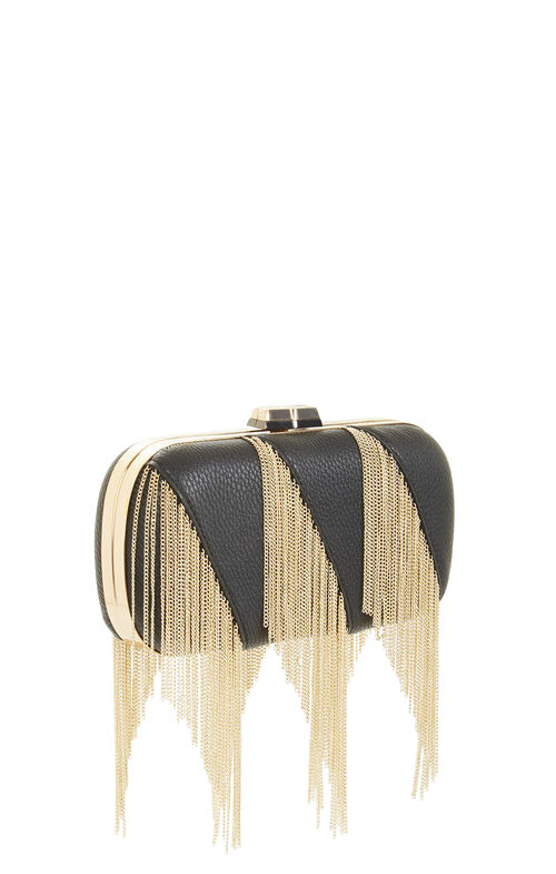 Keira Embossed Faux Leather Clutch