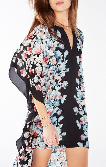 Dameka Floral Print High-Low Dress