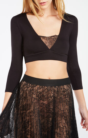 Leryn Lace-Trim Crop Top