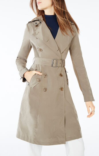 Laurin Double-Breasted Trench Coat