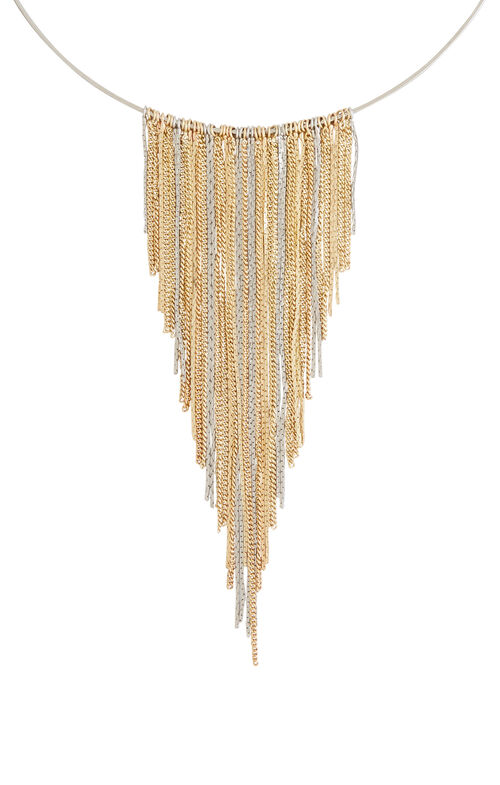 Chain Fringe Collar Necklace