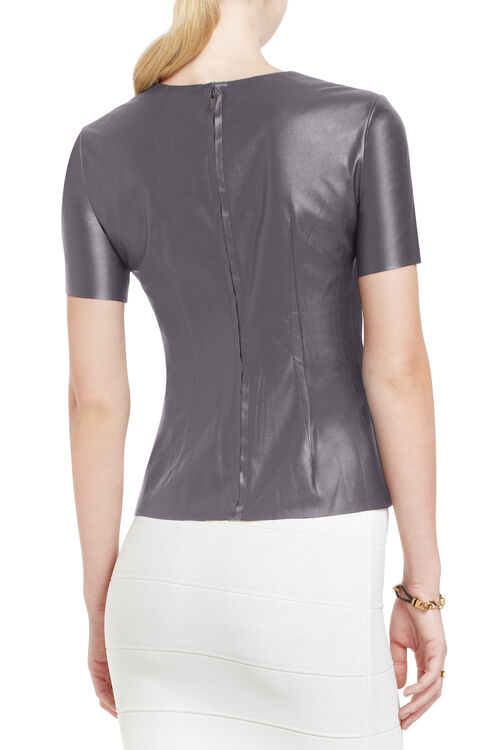 Tulum Faux-Leather Top